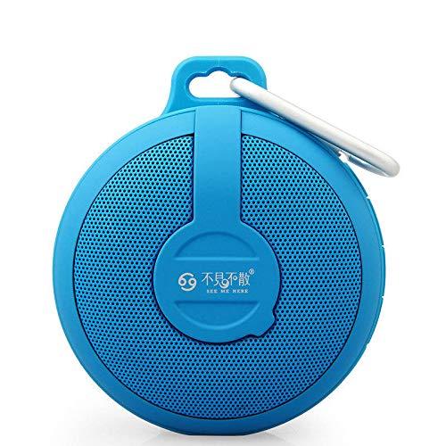 QUD Bluetooth Portable Speaker - Bass Mini Kleurrijke Cool Multifunctionele draagbare subwoofer Louder Volume 10-uur speelduur 94x83x40mm 20/3/13 (Color : Blue)