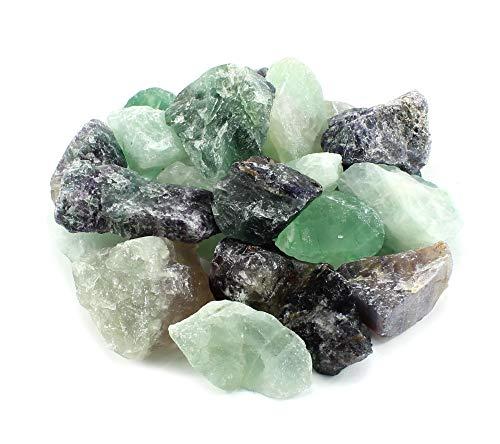Budawi® - Fluorit Chips Rohsteine Edelsteine Dekosteine Brunnensteine Wassersteine 1kg