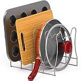 SimpleHouseware Kitchen Pot Lid Rack Holder Organizer, Silver
