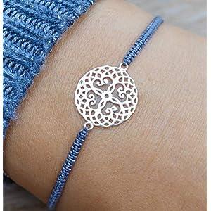Armband Mandala 925 Silber handgeflochten G-Box