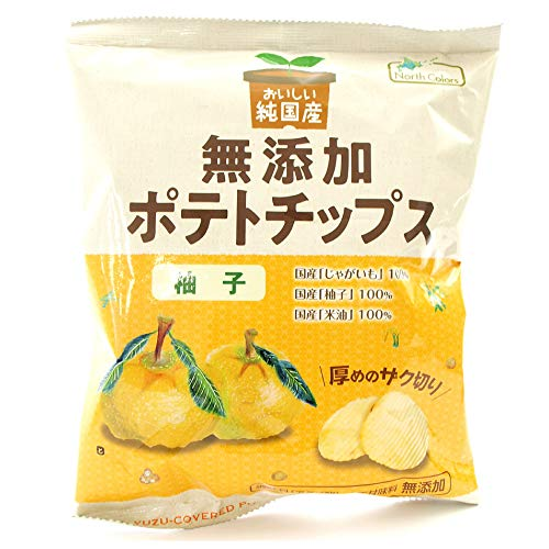 ポテトチップス ノースカラーズ 純国産 無添加ポテトチップス 柚子 53g 12袋