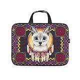 Native American Cat - Bolsa para portátil (tamaño grande), diseño de gato americano, blanco (Blanco) - RQPPY670