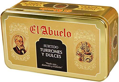 Lote de Turrones artesanos en Estuche Dorado metálico (nº 4), El Abuelo....