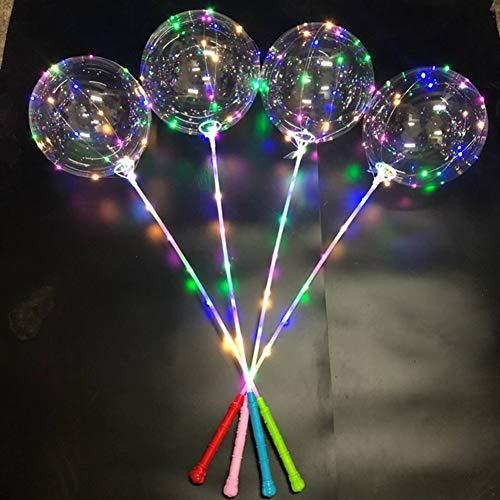 Leezo Leuchtende Led Ballon 3 Meter LED Streifen Lichter Batteriebetriebene Herzform Runde Blase Ballons Kinder Spielzeug für Hochzeit Bar Yard Dekoration Geschäftsgeschenk Nachtbeleuchtung