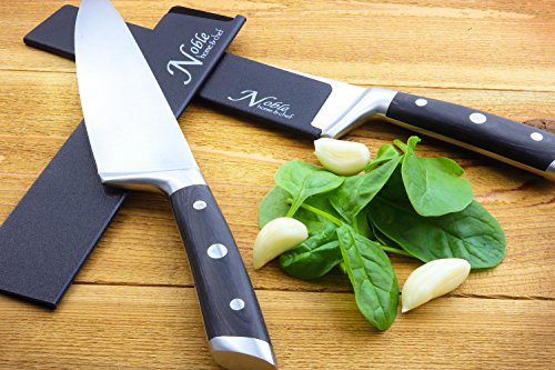 "2-Piece Universal Knife Edge Guards (8.5"" and 10.5"") are More Durable, BPA-Free, Gentle on Your Blades, and Long-Lasting. Noble Home & Chef Knife Covers Are Non-Toxic and Abrasion Resistant!"