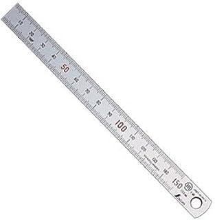 シンワ測定(Shinwa Sokutei) 直尺 シルバー 上下段 1mmピッチ 15cm 13404