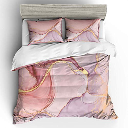 Duvet cover and pillowcase bedding quilt cover single double room king size bed-pink