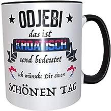 Tassenset 2x Kaffeetasse//Becher franz/ösisch satire frech w/ünsche sch/önen Tag Kaffeetasse Freche Tasse Becher Frankreich Geschenk Franzose