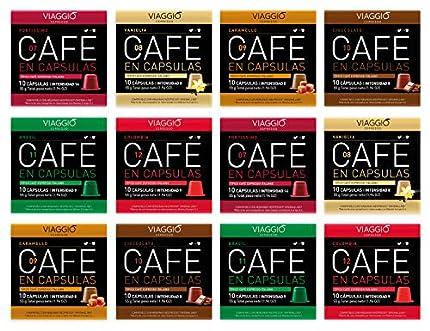 Viaggio Espresso Cápsulas de café compatibles con máquinas Nespresso Selección especial (120 Cápsulas)