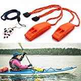 Botepon Marine Boat Whistle Coast Guard Approved Whistle Kayak Whistle Kayak Accessories Life Vest Whistle for Boating, Kayaking, Tubing, Jet Ski, Snorkeling, Diving, Wave Runner, Seadoo, Fishing