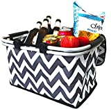 Large Insulated Picnic Basket Cooler | 9 Gal Capacity Leakproof...