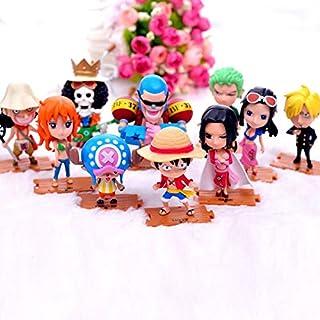 DADATU 10 unids/Set Anime One Piece Figuras de Acción Cute Mini Figura Juguetes Modelo de colección de Coches Decoración Brinquedos