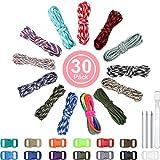13 Colores 10 Pies de Cable de Paracord 550 Cuerdas de Paracord Multifunción, Kits de Fabricación Combinada de Cuerda para Tienda de Campaña con Hebillas para Hacer Puño de Mono, Cordones, Llavero