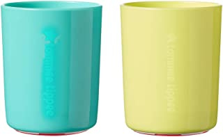 Tommee Tippee No Knock Transition Toddler Cup with Clevergrip Base, Aqua & Yellow, 12+ Months
