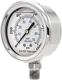 PIC Gauges SEC-301LFW-254M All Stainless Lower Mount, 2-1-2% Accuracy