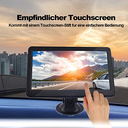 DishyKooker 7 Zoll Auto LKW GPS Navigation 256M RAM 8G Unterstützung Russland/EU/N & Südamerika/Asien/Afrika/AU NZ Karten Schwarz Nordamerika-Karte AutoAccessory