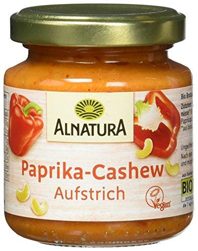 Alnatura Bio Brotaufstrich Paprika-Cashew, vegan, 12er Pack (12 x 125 g)