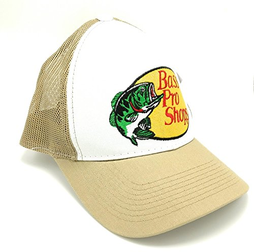 Bass Pro Shops Embroidered Logo Mesh Hat (Tan)