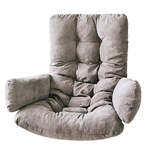 Terynbat Swing cesta cojín asiento cojín grueso y de alta resistencia de pana swing cesta cojín sofá silla silla cojín hamaca cáscara de huevo hamaca cojín interior y exterior extraíble instalación