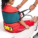 QEES Transferencia Sling – Moving Assist Gait Belt Arnés dispositivo acolchado asas, cinturón médico para silla de ruedas, cama (azul)