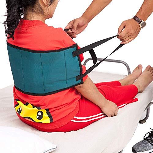 QEES Correa de transferencia - Arnés de cinturón de asistencia para movimiento, con asas acolchadas, cinturón médico para silla de ruedas, cama, color azul