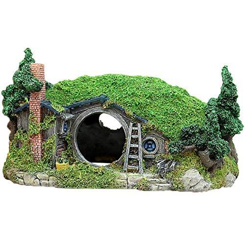 Dongbin Miniatur-Landschaft Hügel Simulation Baumstamm Polyresin Landschaft Dekoration Brücke Dekor Harz Hiding Cave Unterwasserlandschaft Fisch-Behälter,House