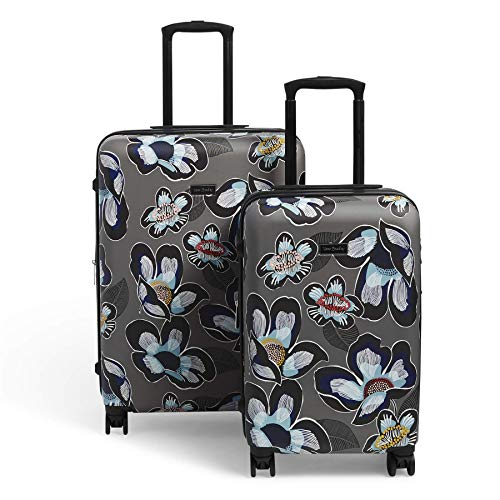 Vera Bradley women's Hardside Rolling Suitcase Luggage, Grand Blooms Shower, 22' Carry On & 26' Check In