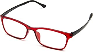 Cyxus Computer Glasses Blue Light Blocking (Ultem Lightweight flexible) Reduce Eyestrain Headache Sleepbetter (Wine Red)