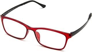 Cyxus Computer Glasses Blue Light Blocking (Ultem Lightweight flexible) Reduce Eyestrain Headache Sleepbetter (Wine Red)