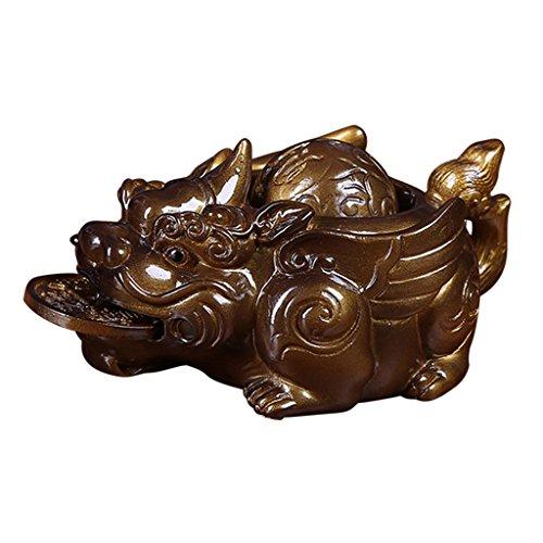 gazechimp Chá Chinês Pi Xiu Zisha Chá Chinês Chá para Animais de Estimação Acessórios Decorativos de Kung Fu Chá - Ouro, Tamanho real