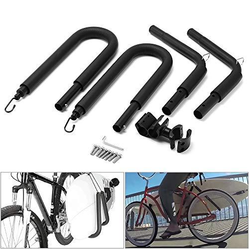 KKmoon Porta Tablas Surf para Bicicleta, Bastidor de Tablas de Surf(Negro)