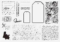 ラベルの背景透明な透明なシリコンスタンプ/DIYスクラップブッキング/フォトアルバム用のシール装飾的な透明なスタンプシートA2175