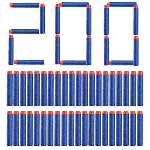 Topways 200pcs 7.2cm Foam Darts Refill Bullet for Nerf Gun Bullets N-strike Elite Series Darts Blasters ( 200 Pack Blue )