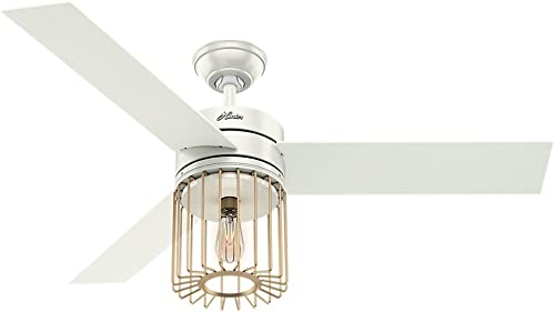 """popular Hunter Ronan Indoor Ceiling popular Fan with LED Light and Remote Control, lowest 52"""", Fresh White outlet sale"""