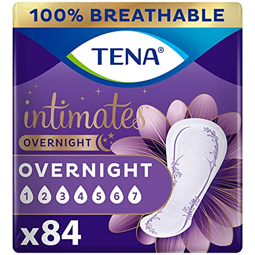 TENA Intimates Overnight Absorbency Incontinence/Bladder Control Pad with Lie Down Protection, 28 Count