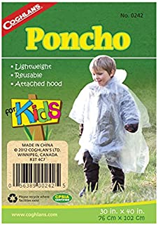 Coghlans Waterproof Poncho, Clear
