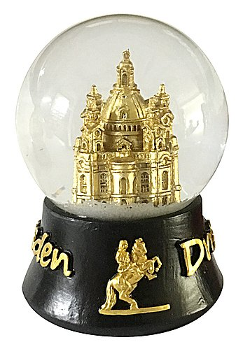 Schneekugel Dresden schwarz gold