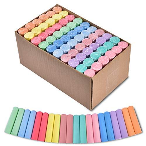 60 PZ Gessetti Colorati, Gessi Colorati Per Strada, Gesso sul marciapiede Gessetti Jumbo Per Strada, Giochi Esterno Bambini da Giardino