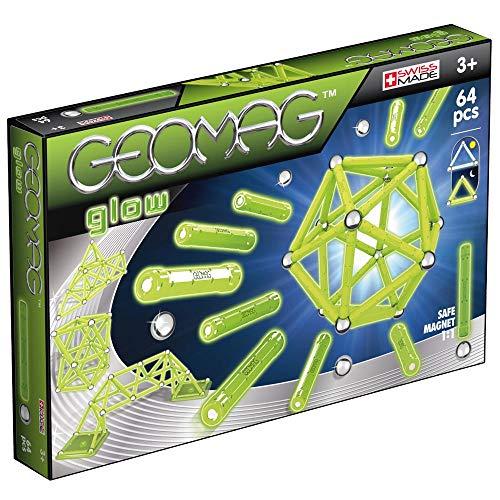 Geomag, Classic Glow 336, Magnetkonstruktionen und Lernspiele, Konstruktionsspielzeug, 64-teilig