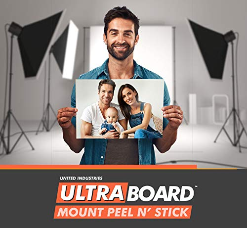 "UltraBoard Mount Peel N' Stick - 3/16"" Thick Self-Stick Adhesive Foam Core Mount Board or Mat Backer for Photo Mounting (24 Pack) (Black, 8' x 10')"