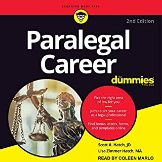 Paralegal Career For Dummies, 2nd Edition audiobook cover art