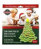 R&M International Star Tree Cookie Cutters to Make 3D Tree, 10-Piece Plastic Set