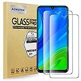 AOKUMA Cristal Templado Huawei P Smart 2020, [2 Unidades] Protector Pantalla para Huawei P Smart 2020 Robusto Antiarañazos Antihuellas con Borde Redondeado Dureza 9H+ Antiburbujas