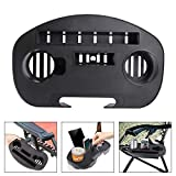 Beach Cup Holder Tray, (Baarrtt) Multifunctional Zero Gravity Chair Tray Lounge Chairs Recliner Table Cups Holder for Mobile Device Slot Snack Cellphone