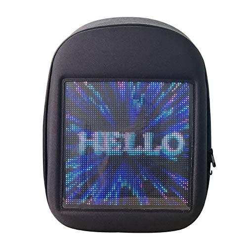 Novel Smart LED Backpack Cool Black Customizable Laptop Backpack Innovative Birthday Gift School Bag (Black)