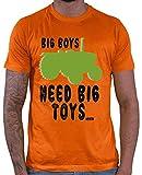 Hariz Big Boys Need Big Toys Tractor 2 agricultores, cumpleaños Plus tarjetas de regalo naranja M