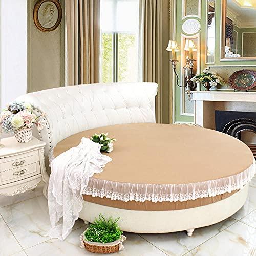 CYYyang Protector de Colchón | Capa Superior de algodón Transpirable Cama Redonda de Puro algodón antideslizante-34_2.2