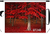 HiYash 5x3ft 秋の結婚披露宴の写真スタジオ家族の装飾ポートレート写真ブース背景ビニール素材スタジオ小道具の間に森の写真背景マングローブの木
