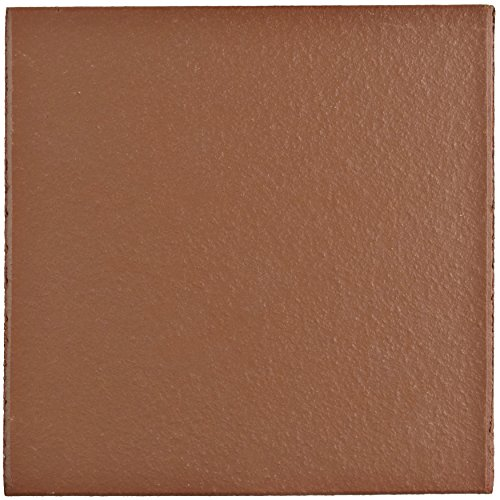 SomerTile FGA6KRD Carriere Quarry Floor and Wall Tile, 5.875' x 5.875', Red, 23 Piece
