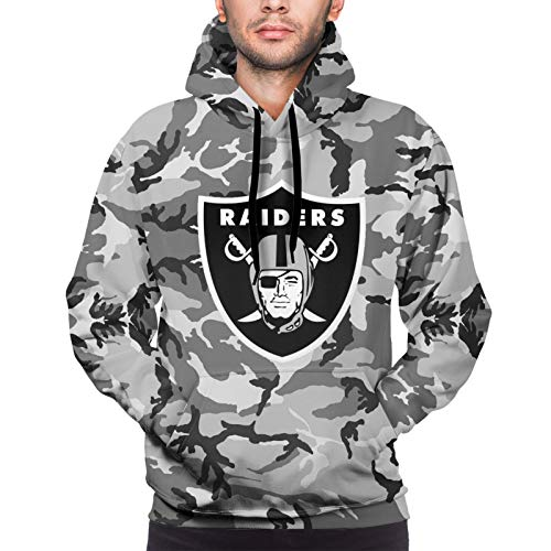 BINGOGO Football Fans Camo Cool Sports Funny Graphic Novelty Hoodie Sweater for Men
